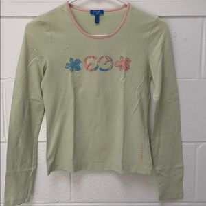 Used Escada Sport green long sleeve top in Size S